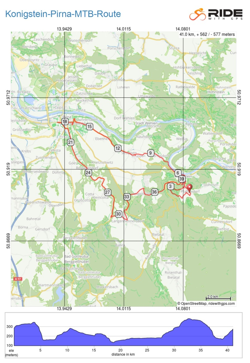 Konigstein-Pirna-MTB-Route